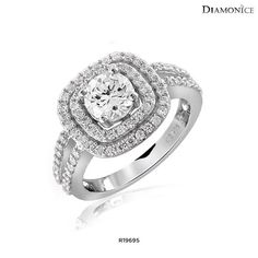 Diamonice Cubic Zirconia Bridal Ring in Sterling Silver - Assorted Styles at 89% Savings off Retail!
