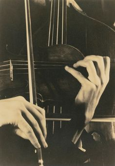 Margaret Bourke-White: Hands Playing Violincello, 1930s
