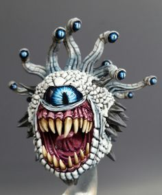 What happens if a beholder goes beyond the wall? Dungeons And Dragons Miniatures, Fantasy Miniatures, Tabletop Rpg, 3d Prints, Creature Concept, Mini Paintings, Minis, Miniture Things, Figure Painting