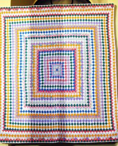 """""""Trip Around the World"""", 1880 - Pennsylvania. Amish Quilt Exhibit, September 2012.  Photo by Seams French."""