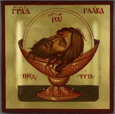 High quality hand-painted Orthodox icon of Saint John the Baptist Head (miniature). BlessedMart offers Religious icons in old Byzantine, Greek, Russian and Catholic style. Religious Images, Religious Icons, Religious Art, Byzantine Icons, Byzantine Art, Paint Icon, Masonic Symbols, Russian Icons, Jesus Art