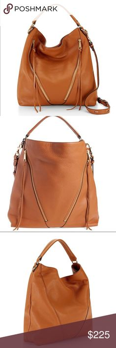 Rebecca Minkoff Moto Hobo Satchel NWT Sweeet! RM Moto Hobo in Almond. NWT. This bag is mint, absolutely no flaws. Signature lining, genuine leather, comes with dust bag.  Gold hardware. Top handle and adjustable/detachable shoulder strap. Two exterior zip pockets. Two interior slip pockets and one slip. Rebecca Minkoff Bags Satchels