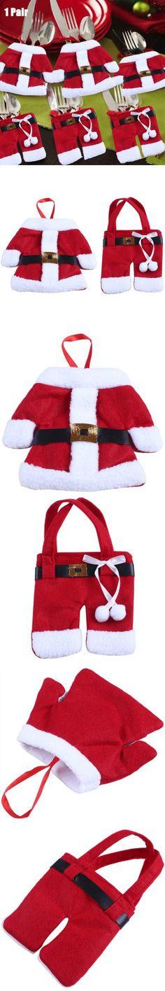 Party Supplies | Christmas Santa Claus Jacket and Pant Style Bag $2.47