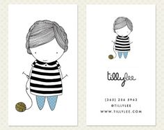 Knitting Business Card Design. Knitter by CrookedLittlePixel