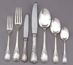 Love these - sterling silver Christofle Marly flatware