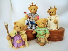 Cherished Teddies King Arthur Guinevere Merlin Lancelot 2006 NIBs #CherishedTeddies