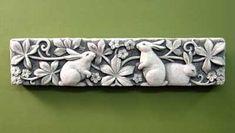 Bramble Bunnies -- Carruth Studio: Waterville, OH Rabbit Crafts, Rabbit Art, Rabbit Head, Rabbit Sculpture, Bunny Art, Wall Plaques, Pottery Art, Arts And Crafts, Clay