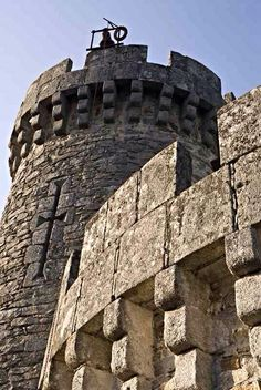 View from Tower | Medieval Castle de Montbrun, Dournazac, Haute-Vienne, France
