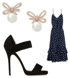 """Untitled #3302"" by bellagioia ❤ liked on Polyvore featuring Jimmy Choo and Boutique Moschino"