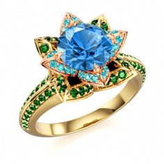 Round CZ Disney Princess Multi-Color 925 Solitaire With Side Accents Ring Size 8 #SolitairewithAccents