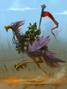Goblin Rider by operion on DeviantArt Fantasy Races, Fantasy Rpg, Fantasy Artwork, Character Concept, Character Art, Concept Art, Character Ideas, Dnd Characters, Fantasy Characters