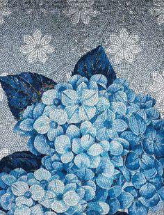 #Sicis #Mosaic #Tile #Hydrangea