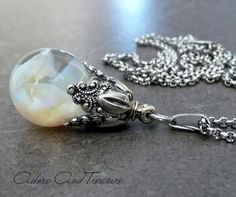 Floating Opal Necklace by AdoreAndTreasure on Etsy, $65.00