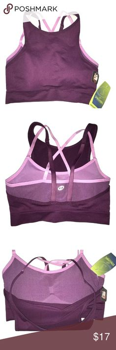 Spalding Speed-Dri Two Layer Sports Bra Spalding Speed-Dri Two Layer Sports Bra   I try my very best to capture the correct shade of the color, the actual shade may vary in person.  	•	Two layers - they are connected at the band and do not come apart 	•	Under layer has a scoop neckline and the removable pads and criss cross back straps 	•	The top layer is a higher front and has adjustable straps 	•	Size Large 	•	Nylon/Polyester/Spandex 	•	MSRP on tag is $27 