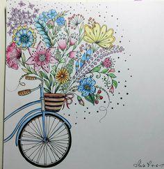 Fruhlings Spazlergang Artist Rita Berman Colored by me 4-16-17