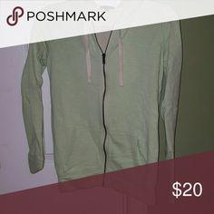 Gap Mint green zip up hoodie Mint green zip up hoodie. Great condition! GAP Tops Sweatshirts & Hoodies