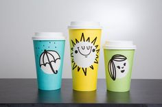 March 20 marks the first day of spring and Starbucks is celebrating the season with its first-ever spring hot beverage cup. Starbucks spring cups are available beginning this Thursday, March 16 at Starbucks stores in Canada and US for a limited time. Starbucks Cup, Starbucks Wallpaper, Tassen Design, Coffee Cup Design, Blue Cups, Packaging Design Inspiration, Brand Packaging, Coffee Cups, How To Draw Hands