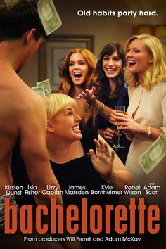 BACHELORETTE, the funniest movie ever. #KirstenDunst #LizzieCaplan #IslaFisher