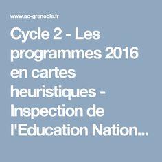 Cycle 2 - Les programmes 2016 en cartes heuristiques - Inspection de l'Education Nationale de Bonneville 1