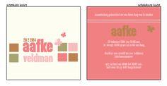 Geboortekaartje modern & retro - Bijzonder geboortekaartje voor meisje. Ontwerp / bewerk dit kaartje zelf, met onze ontwerptool. www.geboortekaartjesdrukkerij.nl #geboortekaartje, #meisje, #kaartjes, #zelfontwerpen, #geboorte, #typografisch #zwanger,