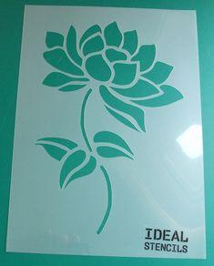 Lotus flower art stencil Floral stencil Home by IdealStencils