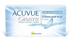 Acuvue Oasys for Astigmatism by Johnson and Johnson is a fortnightly disposable contact lens that is specially made for contact lens wearers with astigmatism. They provide the perfect mixture of clear vision, moisture, smoothness, breathability, UV protection and easy handling.