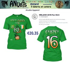 Another Awesomely cool Premium Quality #TShirt with unique Anubis Apparel(c) front & back designs. Design Requests welcome at Facebook.com/AnubisApparel #soccer #football #ireland #irish #worldcup #2016 #16 #eire #leprechaun #harp