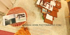 Hook Photography Booth at the Hawaii Bridal Expo.  Table and stool handmade and up cycled.  The wood flooring all hand painted and stenciled with a tiny brush.