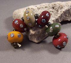 Handmade Lampwork Beads by Monaslampwork - Autumn Metallics -Handmade Lampwork Beads by Mona Sullivan Boho Gypsy Organic Ancient Boho