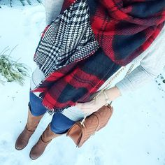 Plaid Blanket Scarves - 2 colors – Ily Couture