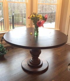 Hand Crafted Round Pedestal Dining Table. Fully Customizable By  JNWoodworking On Etsy Https:/