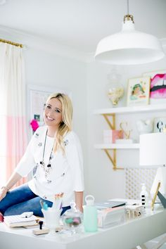 Monika Hibbs Office Tour on Style Me Pretty // Jamie Lauren Photography: Jamie Lauren Photography - jamielaurenphotography.com/  Read More: http://www.stylemepretty.com/living/2014/03/24/behind-the-blog-with-the-doctors-closet/