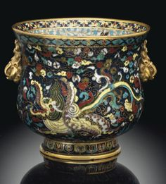Ming dynasty cloisonne enamel bowl made in 15th or early 16th century. Sold at auction for 2.6 million.