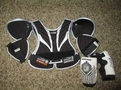 Brine Lacrosse Shoulder Elbow Pads Youth Small  #Brine