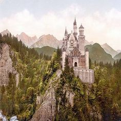 King Ludwig II of Bavaria spent a fortune building his famous castles. The stunning Neuschwanstein was the inspiration for Walt Disney's Cinderella's Castle. But, was Ludwig insane? Beautiful Castles, Beautiful World, Beautiful Places, Beautiful Pictures, Oh The Places You'll Go, Places To Travel, Places To Visit, Earth 3, Photo Chateau