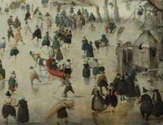 Hendrick Avercamp (1585-1634), Winterlandschap met schaatsers, 1608