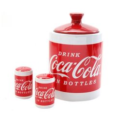 Buy Classic Coca Cola 4-piece Cookie Jar Wit at Walmart.com