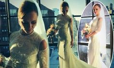 Christina Ricci shares photos in her stunning Givenchy wedding dress. She married James Heerdegen on Saturday 26th October 2013..