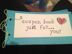 Made a coupon book for my boyfriend full of things he'd like.