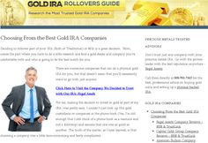 Choosing From the Best Gold IRA Companies