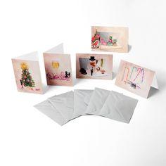 Sada 5 vánočních pohlednic s obálkami Collection řady 5 Vánoce - 5 Fun blahopřání - 10,5x15 cm