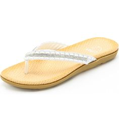 Alexis Leroy Women's Flip-Flops Diamond Beach Flat Cool Slippers ** Check out the image by visiting the link.
