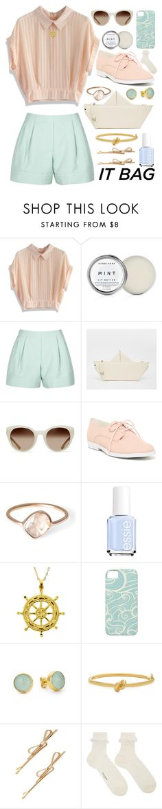 """""""Sail Away Outfit"""" by ohsosartorial on Polyvore featuring Chicwish, 3.1 Phillip Lim, The WhitePepper, Tory Burch, ALDO, Parisi, Essie, Margaret Elizabeth, Kate Spade and Yves Saint Laurent"""