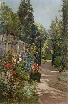 The Summer Garden, Alfred de Breanski, Jr. (1877-1957)