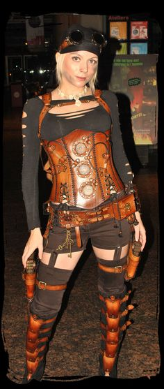 Steampunk  (ooo, it's my favorite corset as part of an outfit!)
