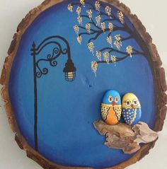 painted rocks birds on driftwood jl - artofit painted rocks stone Pebble Painting, Stone Painting, Painting On Wood, Stone Crafts, Rock Crafts, Arts And Crafts, Sea Crafts, Art Pierre, Wood Slice Crafts