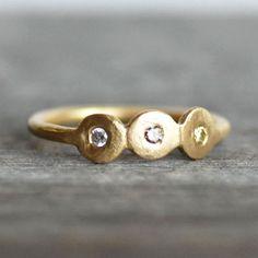Diamond Engagement Ring  18k Gold Wedding Band  by LilianGinebra, $389.00 etsy.com
