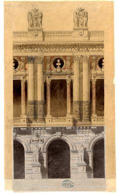 Architecture Mapping, Urban Architecture, Commercial Architecture, Architecture Drawings, Historical Architecture, Architecture Details, Charles Garnier, Fachada Colonial, Paris Opera House