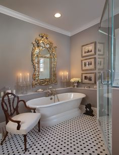 Bathroom | Kevin Steffanni Design Group, www.kevinsteffannidesigngroup.com; Ralph Lauren Home at Webster & Company, www.webstercompany.com