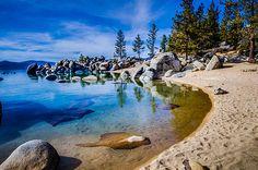 Chimney Beach Lake Tahoe Shoreline - Photography by Scott McGuire